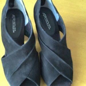 Aerosols Swede wedge shoe